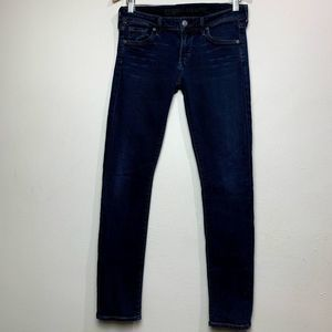 Citizen of Humanity Blue Wash Racer skinny Jean 27